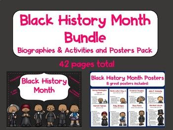 Photo of Black History Month Bundle-biographies, activities, & posters
