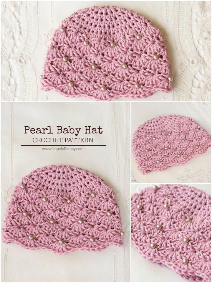 17 Free Crochet Baby Beanie Hat Patterns | Pinterest | Handarbeiten