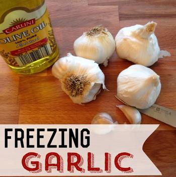 Freezing Garlic Freezing garlic, Garlic, Freezer cooking