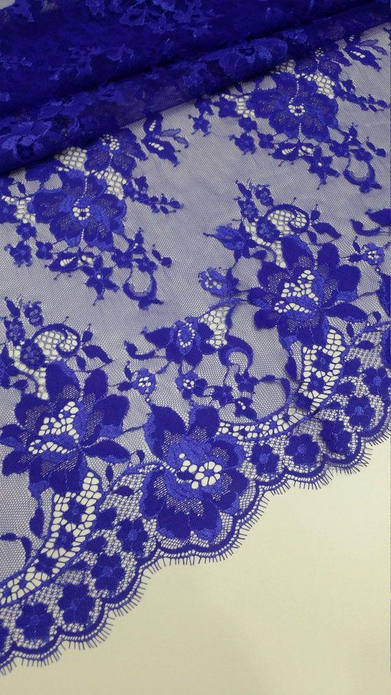 Stretch Lace Royal Blue Per Metre
