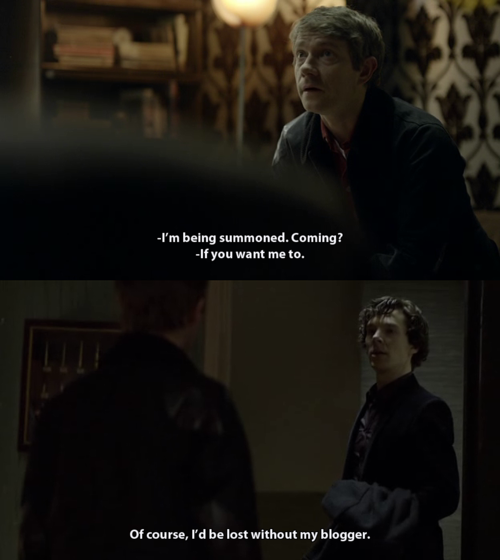 I M Being Summoned Coming Sherlock If You Want Me To John Of Course I D Be Lost Without My Sherlock Holmes Fandom Sherlock Holmes 3 Sherlock John