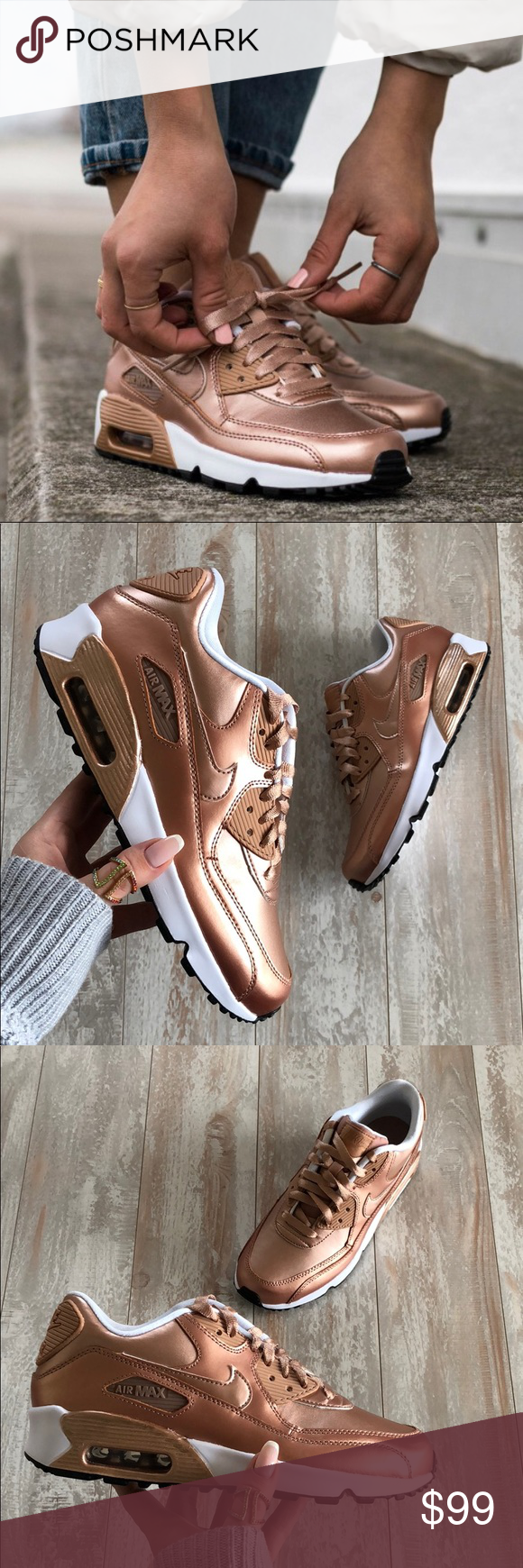 cb4bb263410 NWT💥Air Max 90 rose gold Brand new with box