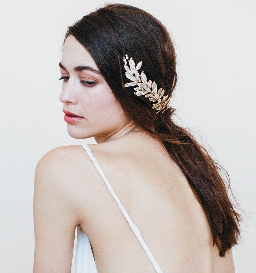 jennifer behr arielle chignon wrap with double comb // bridal comb