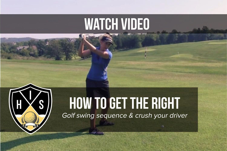 the golf swing bettergolf Golf swing sequence, Perfect