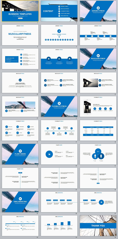30 Blue Multipurpose Powerpoint Templates On Behance Powerpoint