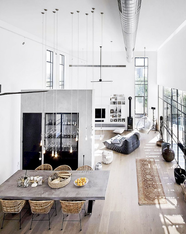 Apartment Rodrigo Da Fonseca V A Modern Apartment Interior With White Surfaces And Big Lightings Loft Interior Design Loft Living Home