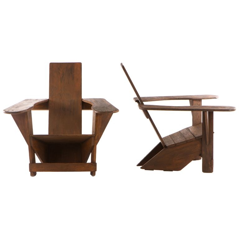 View This Item And Discover Similar Lounge Chairs For Sale At   Rare Pair  Of Early Modernist \u0027Westport\u0027 Adirondack Chairs Designed By Thomas Lee In  ...