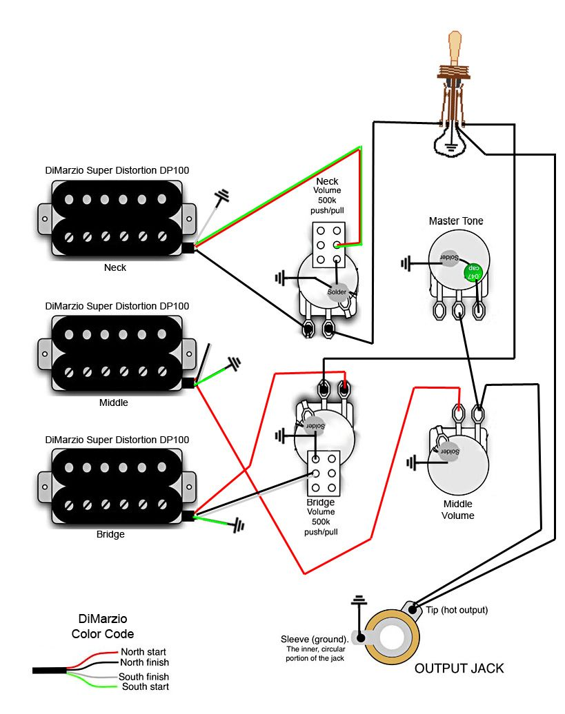 3 Pickup Les Paul Wiring Diagram Techrush Me Within