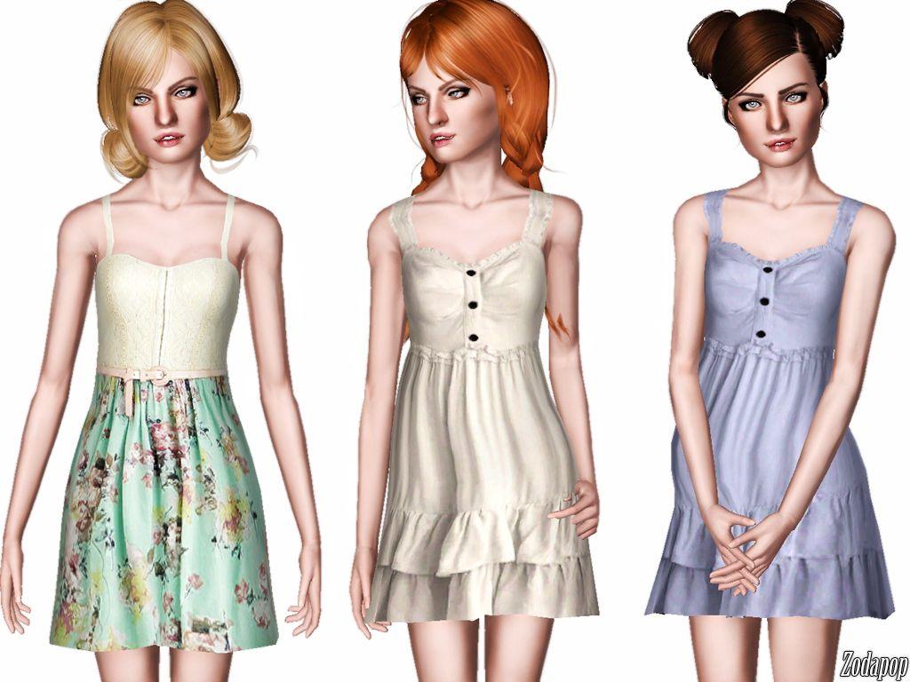 Zodapop@TSR - spring dresses #Sims3 | sims | Dresses ...