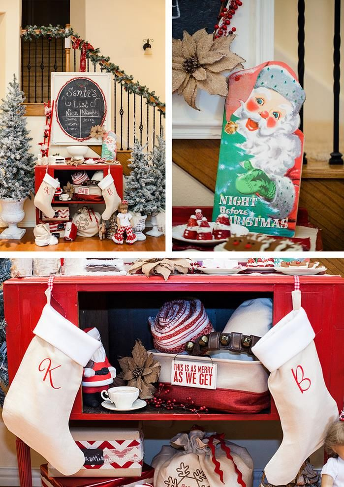 Superb Vintage Christmas Party Ideas Part - 12: Vintage Santa Christmas Party With Full Of DARLING IDEAS Via Karau0027s Party  Ideas | KarasPartyIdeas.
