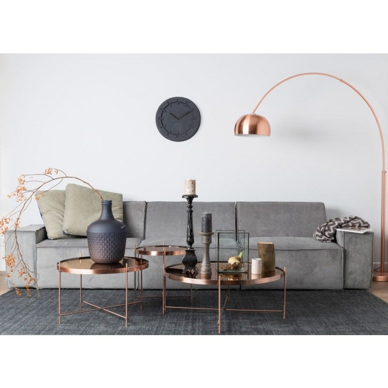metal bow copper lamp