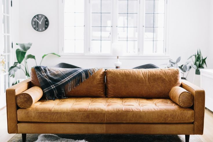 Couch Goals Modern Leather Sofa