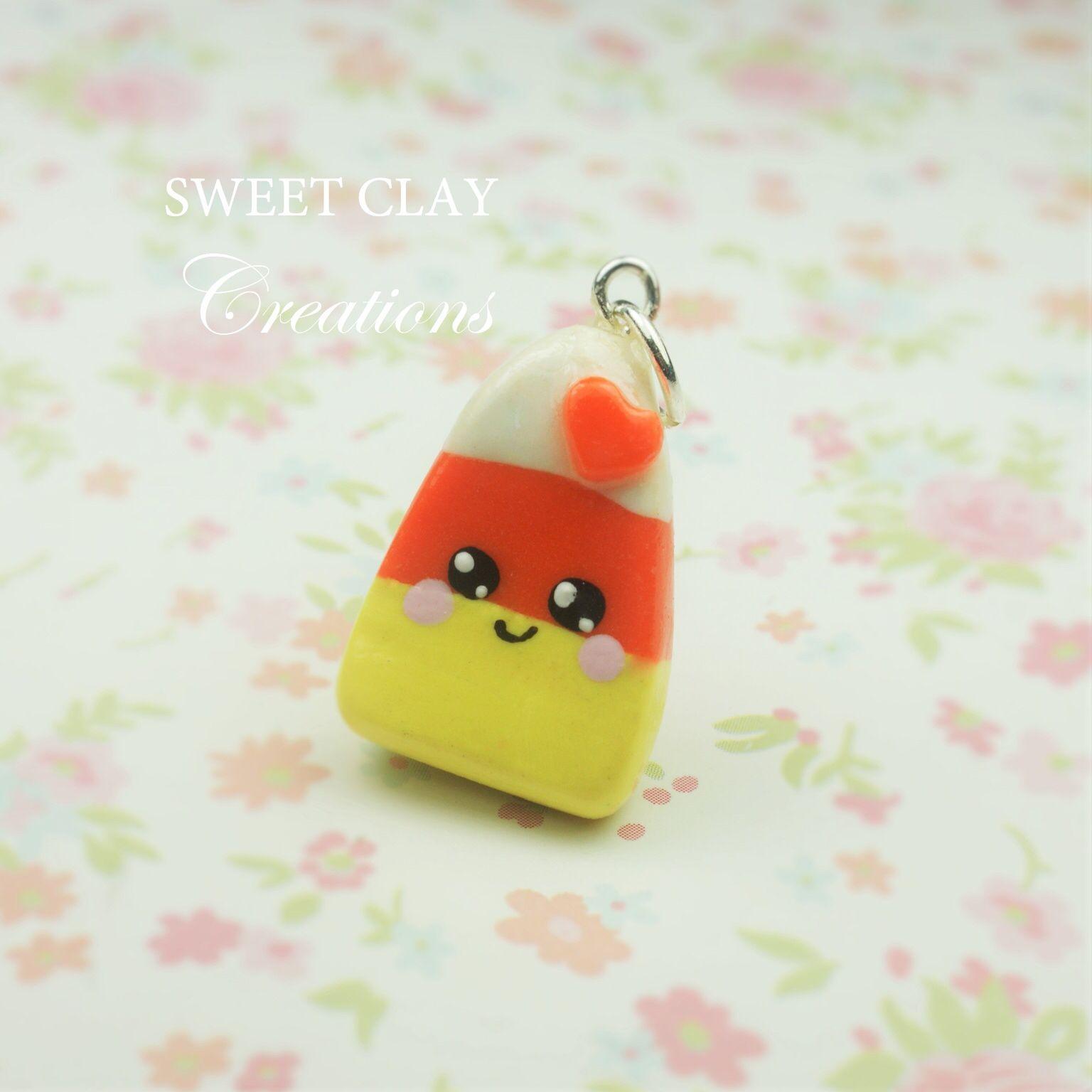 Candy Corn Kawaii Charm Polymer Clay Miniature Food Jewelry Handmade By  Sweet Clay Creations