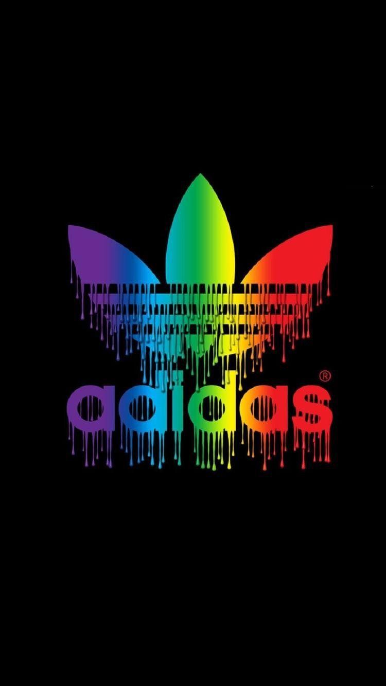 Lock Screen Wallpaper Rainbow Adidas