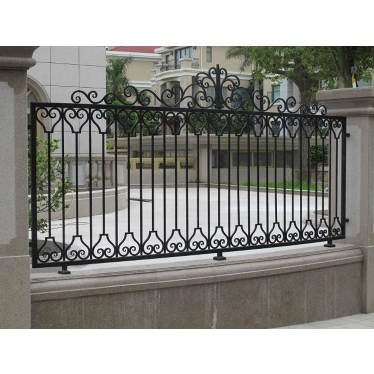 Cheap Simple Design Decorative Wrought Iron Fence Panels For Sale