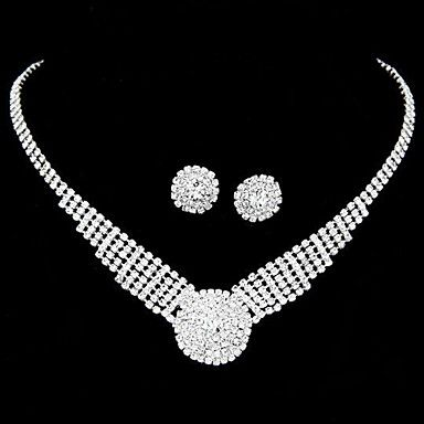 Pretty Alloy With Clear Rhinestone Wedding Bridal Jewelry Set(Including Necklace,Earrings) - USD $ 9.99