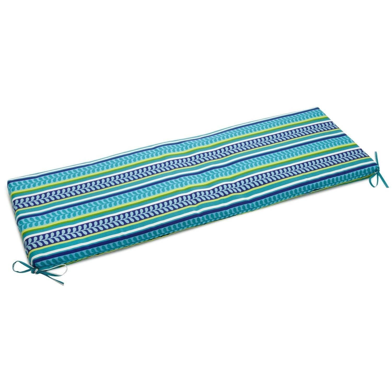 Blazing Needles 54 Inch Designer Floral Outdoor Bench Cushion Pike