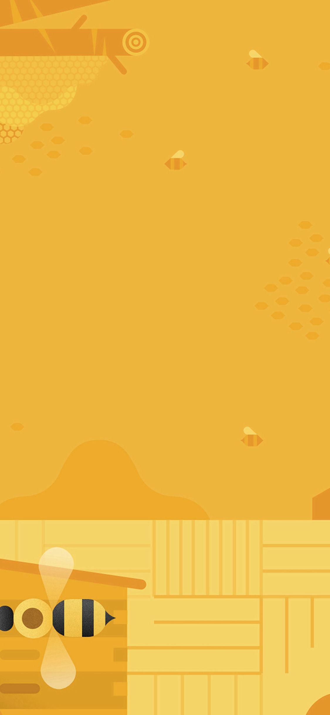 Minimal Honey Yellow Art Illustration Cute Iphone X Wallpaper Yellow Art Cute Iphone 6 Wallpaper Iphone 6 Wallpaper