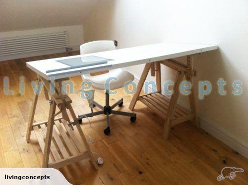 Ikea Linnmon Height Adjustable Trestle Desk Trade Me Mesa De Desenho Hack Ikea Mesa