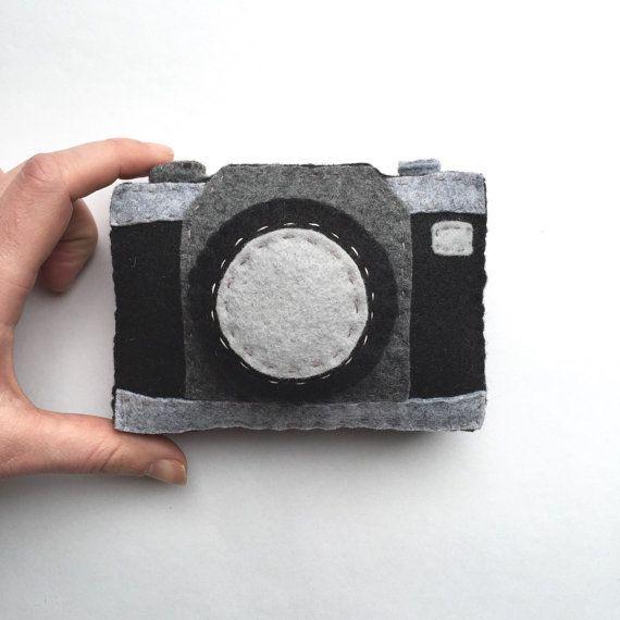 appareil photo jouet jouets en feutre feutre cam ra par. Black Bedroom Furniture Sets. Home Design Ideas