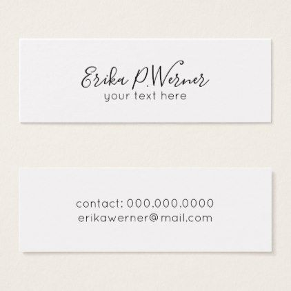 minimalist manuscript elegant simple white mini business card - business envelope template