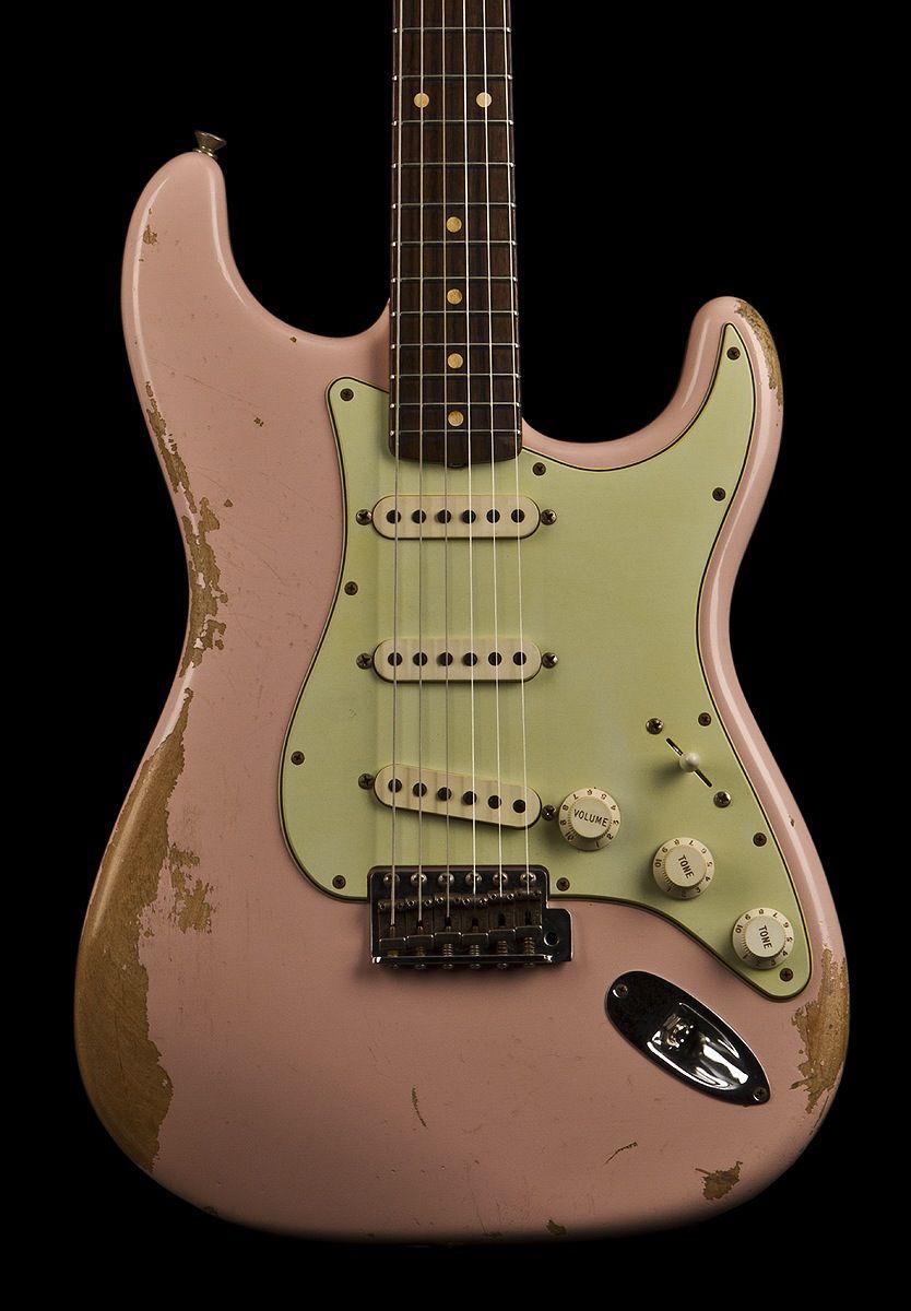 fender custom shop 1960 stratocaster shell pink relic guitar in 2019 pinterest. Black Bedroom Furniture Sets. Home Design Ideas