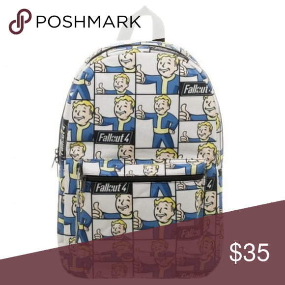 Fallout 4 Vault Boy Thumbs Up Gamer Backpack Fallout 4 Vault Boy Backpacks Boys Backpacks