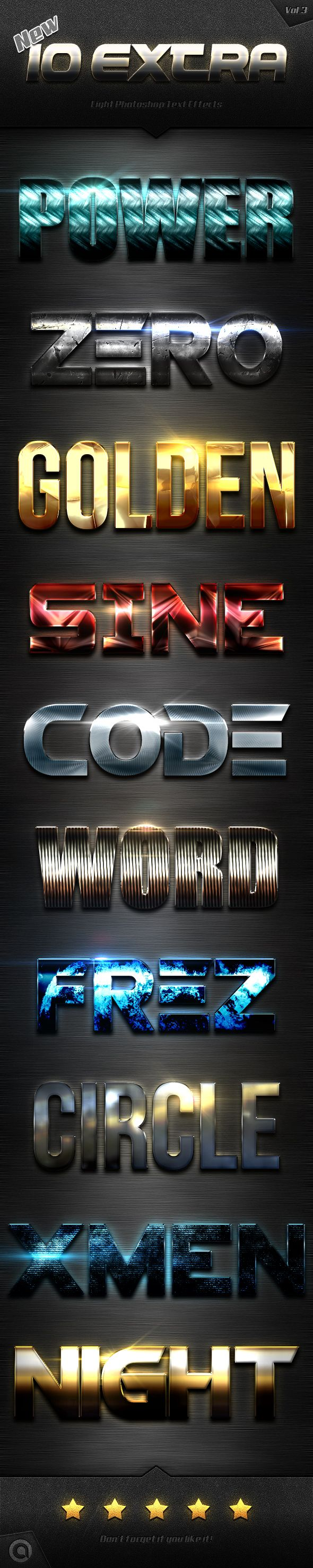 New 10 Extra Light Text Effects Vol.3 Styles Vol