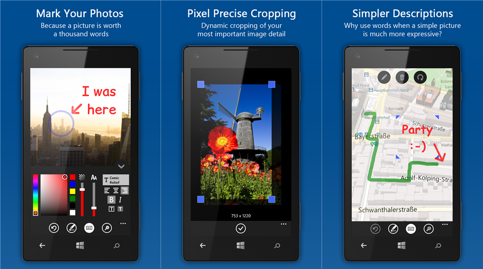 Photo Marker image editing application update for Windows Phone 8 devices  An update is available Marker