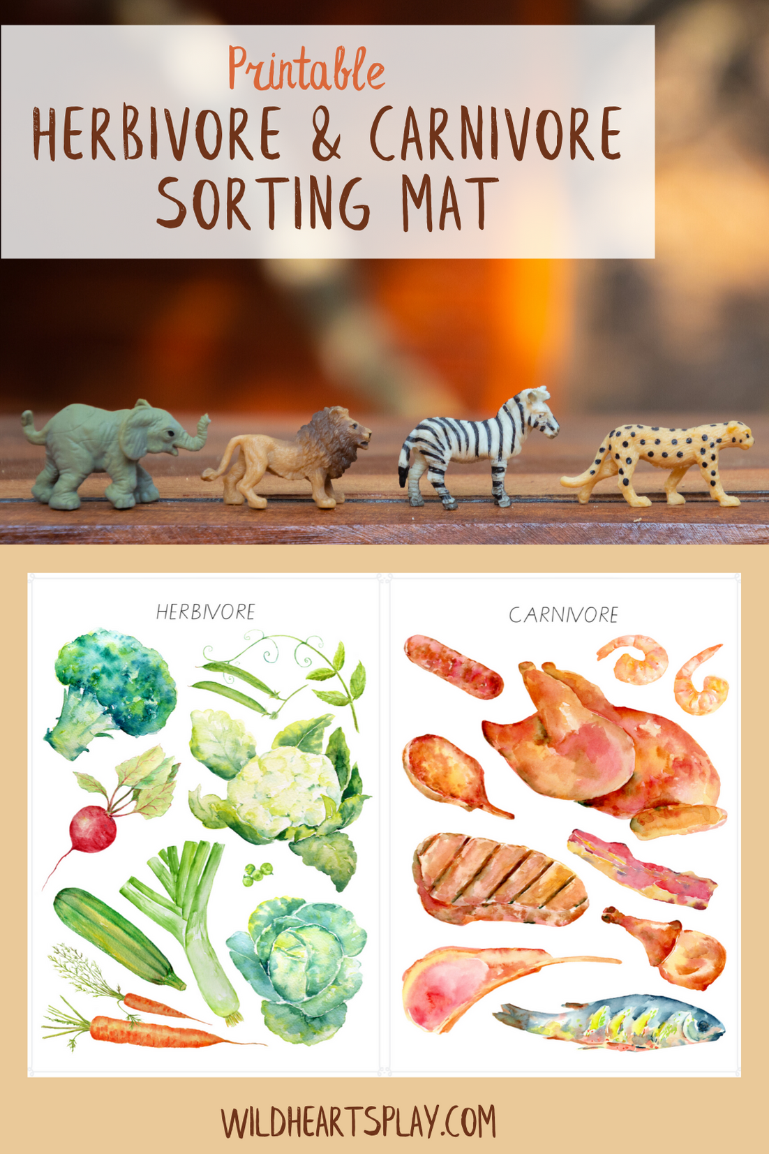 Herbivore And Carnivore Printable Sorting Activity