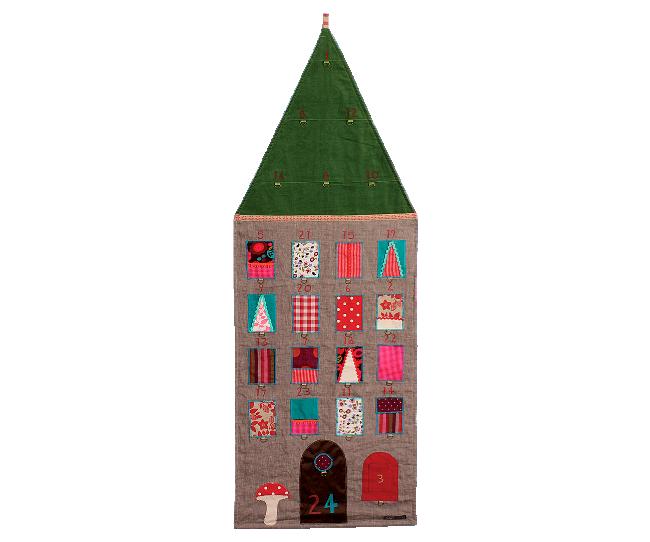Morsom  adventskalender / julekalender / gavekalender / pakkekalender fra Maileg. 150 cm lang. Veldig dekorativ!