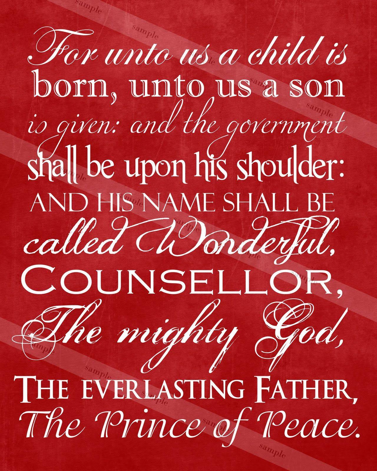 109 Best Christmas Lds Images On Pinterest: A Pocket Full Of LDS Prints: Christmas Scripture Print