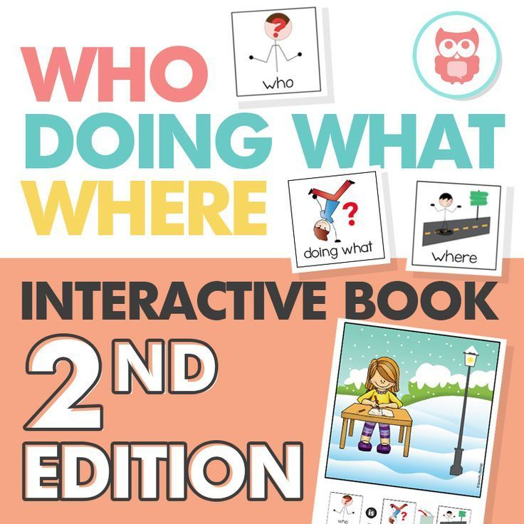Target WH questions with this interactive book that TEACHES how to answer who, doing what, and where questions. A great speech therapy activity for students with autism. From Speechy Musings.
