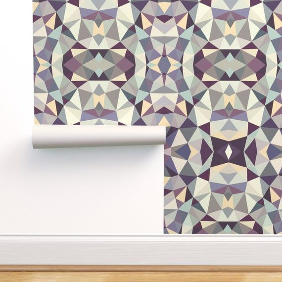 Abstract Geometric Wallpaper - Stoney Tribal By Beththompsonart- Modern Custom Printed Removable Self Adhesive Wallpaper Roll by Spoonflower#abstract #adhesive #beththompsonart #custom #geometric #modern #printed #removable #roll #spoonflower #stoney #tribal #wallpaper