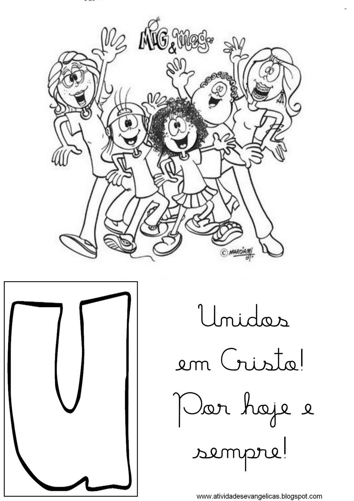 Atividades Evangelicas Alfabeto Mig E Meg Criancas Para Colorir