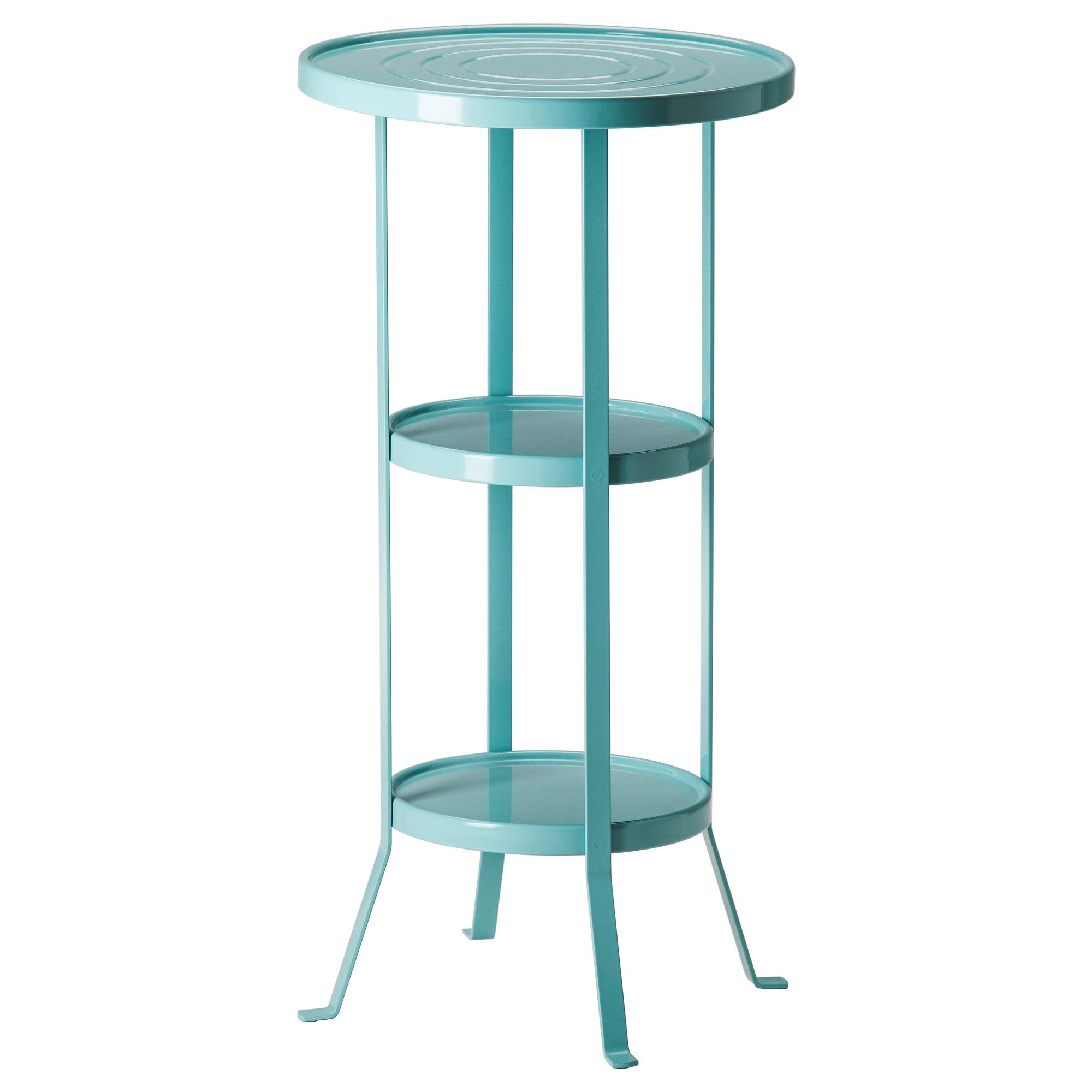 GUNNERN Pedestal table - blue - IKEA Great as a plant stand for ...