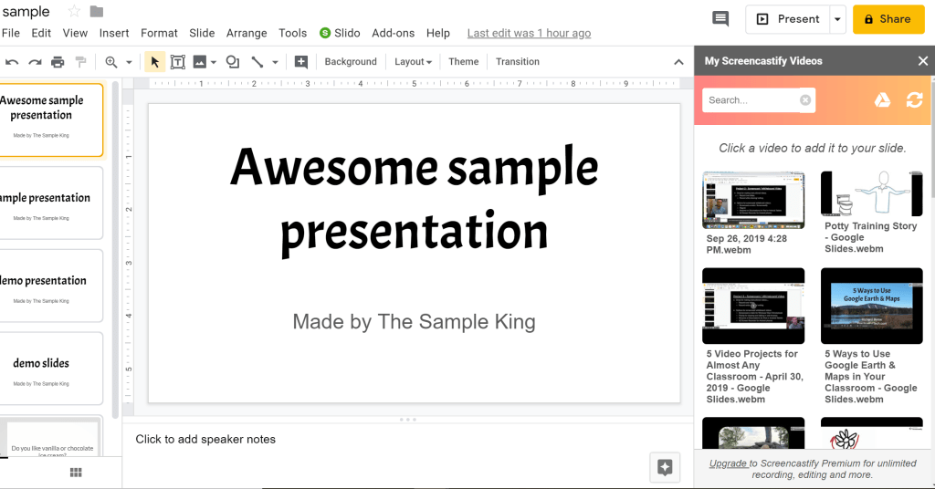 Two Ways To Add Your Videos To Google Slides Without Using Youtube Google Slides Slides You Videos