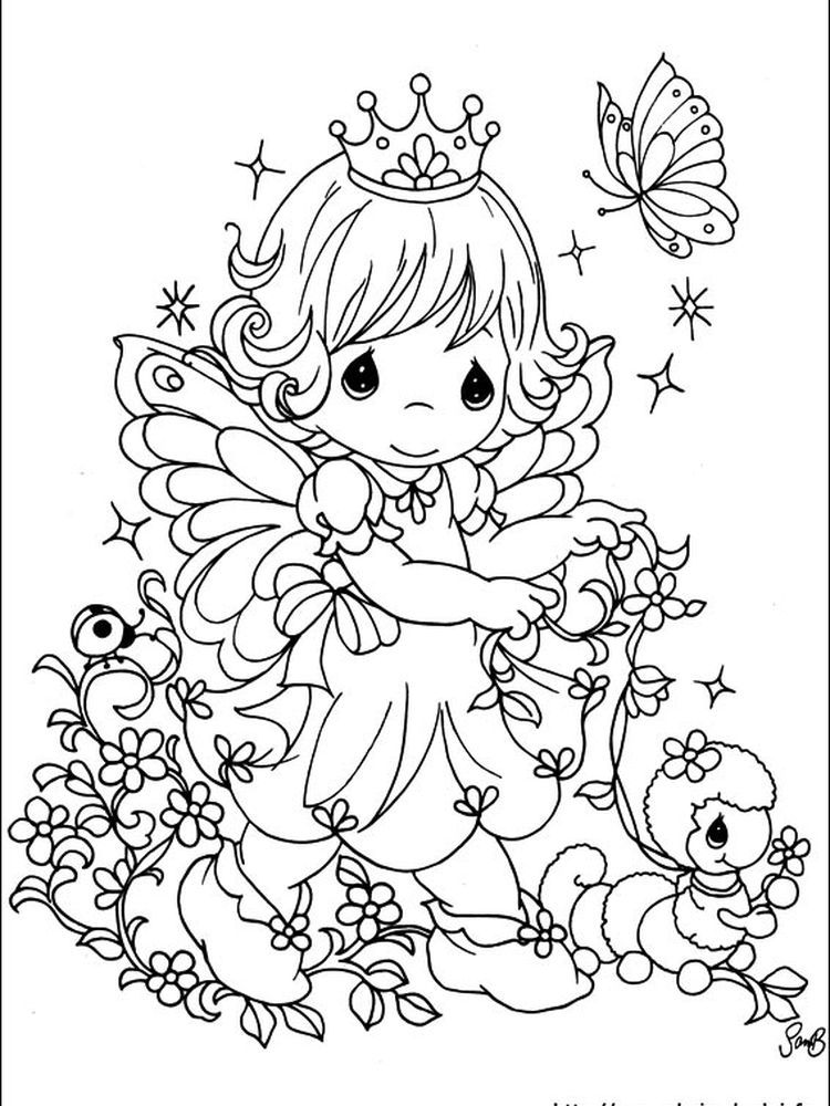Free Coloring Pages Precious Moments Angels. Following This Is Our  Collection Of Preciou… Precious Moments Coloring Pages, Fairy Coloring  Pages, Coloring Pictures