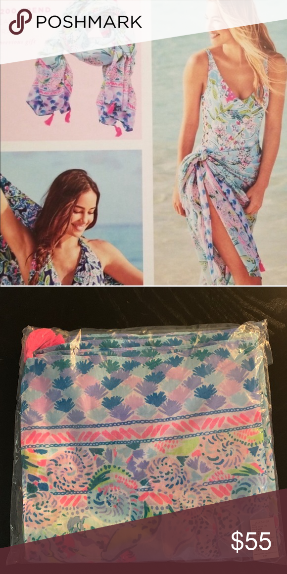 869deb59c63717 NWT Lilly Pulitzer wrap Lilly Pulitzer wrap. Can be worn as a sarong or  scarf. Bali blue sway this way. Lilly Pulitzer Accessories