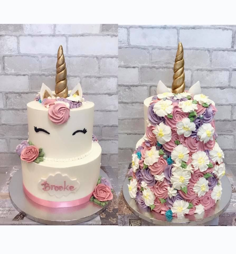 2 Tiers Unicorn Cake Cake Tiered Cakes Unicorn Birthday Cake