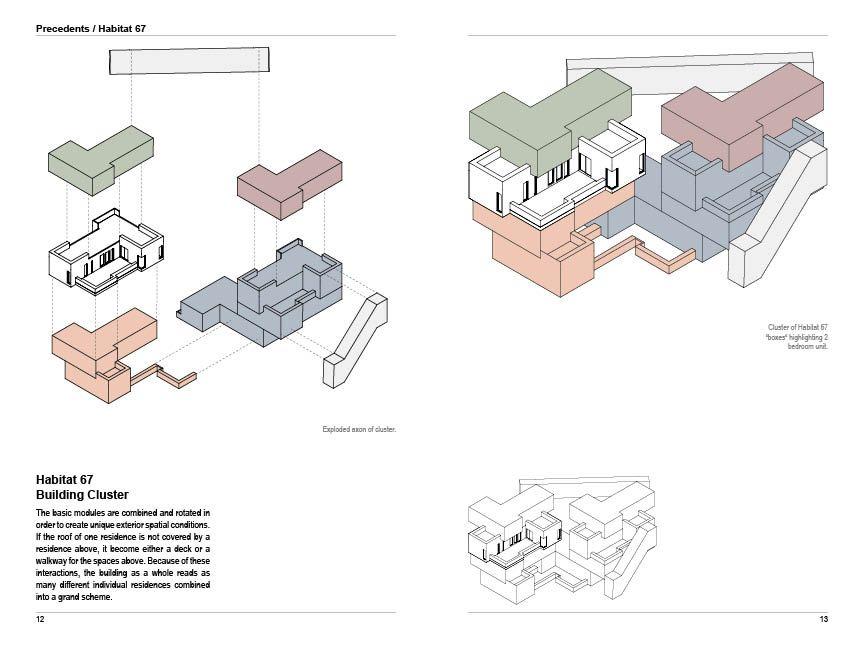 Habitat 67 Modular Precedent Study Diagram Architecture Architecture Concept Diagram Module Architecture