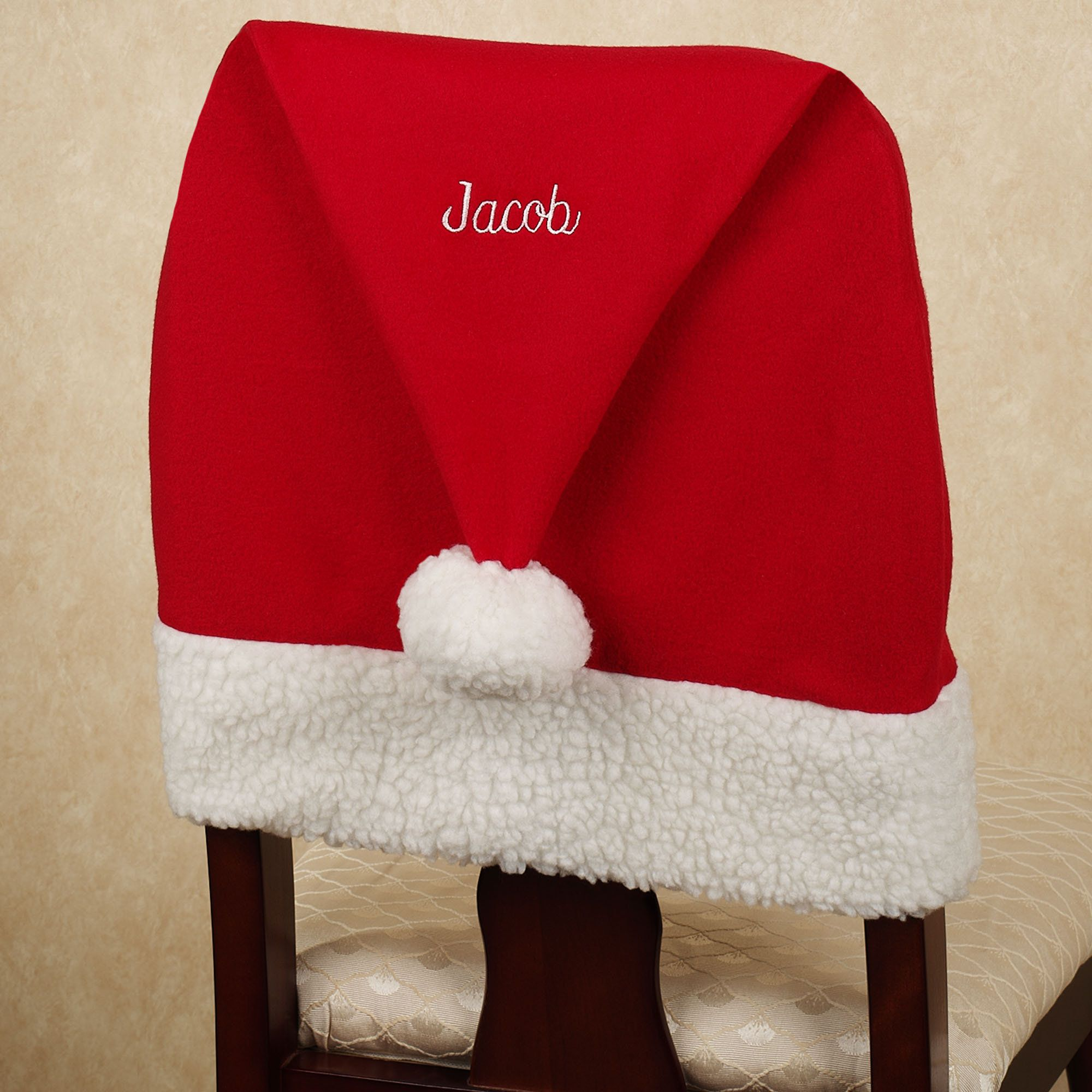 Surprising Santa Hat Chair Back Cover Italy Hair Wigs Chair Back Squirreltailoven Fun Painted Chair Ideas Images Squirreltailovenorg