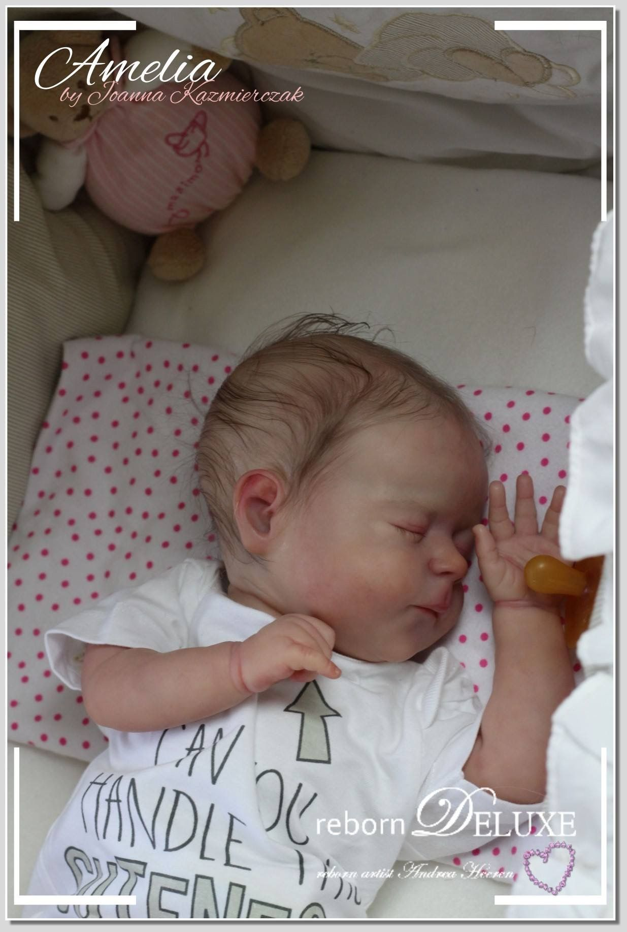 Andrea Heeren Reborndeluxe Newborn Baby Amelia By Joanna Kazmierzcak Www Reborn Deluxe Com Soon For Sale Life Like Baby Dolls Reborn Baby Dolls Baby Dolls
