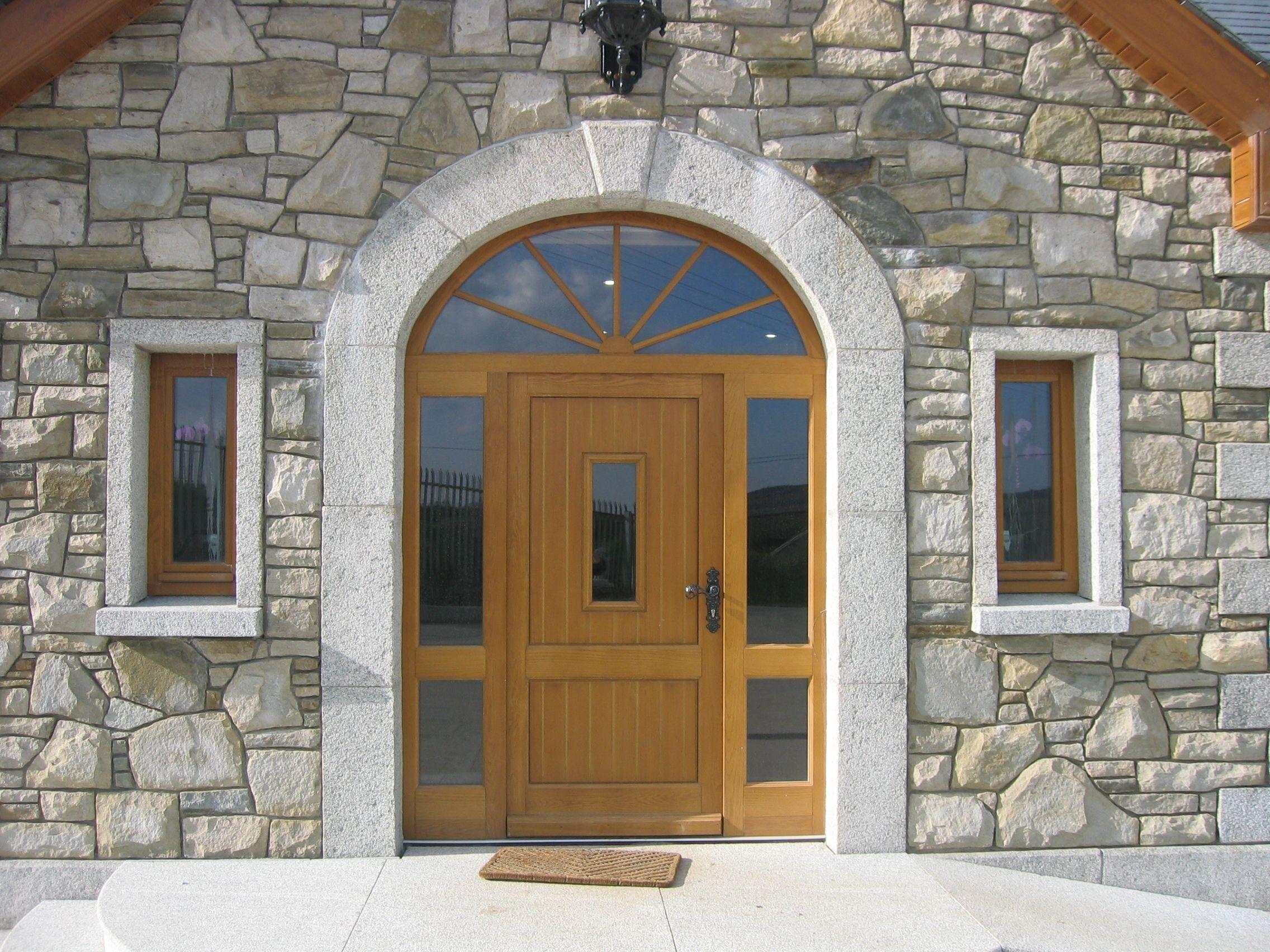 Beautiful Granite Georgian Stone Arch In Ireland Pure Craftsmanship And Class Georgian Doors Stone Cladding Arched Doors