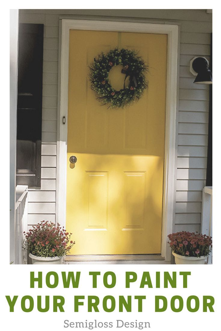How To Paint An Exterior Door For Instant Curb Appeal Simple Diy