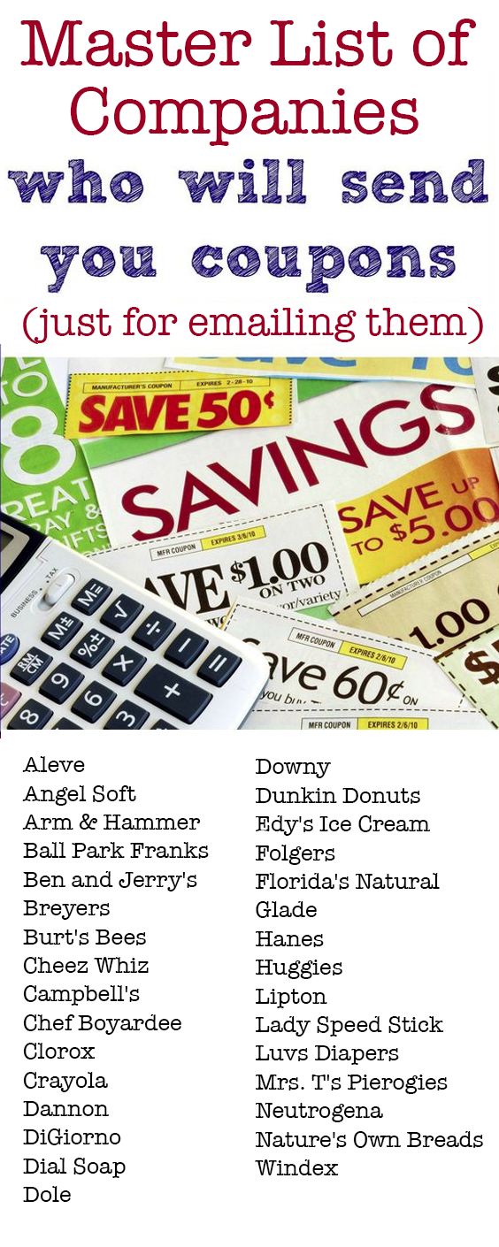 GROCERY COUPONS BY EMAIL