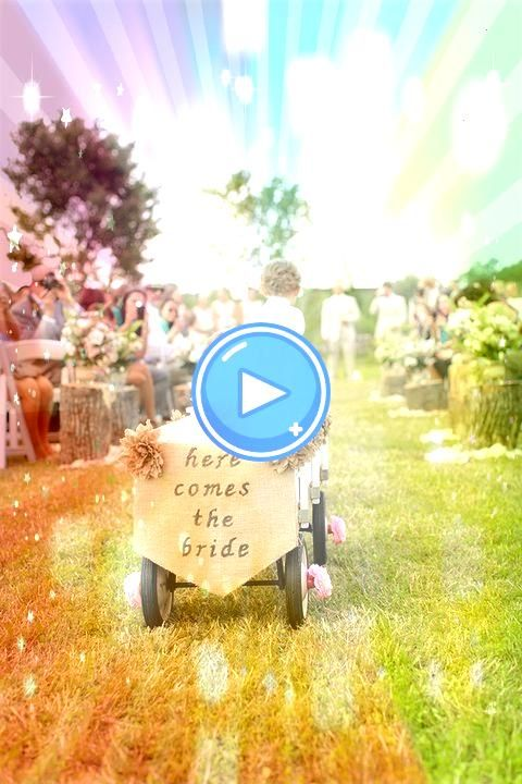 any wedding party participants too young to walk down the aisle enlist the help of the ring bearer to pull them in a rustic wagon 198299189829104747For any wedding party...