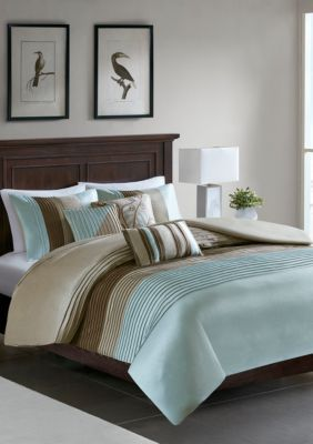 Photo of Madison Park  Amherst 6 Piece Duvet Cover Set – Blue – King