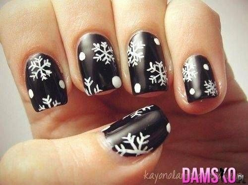 Let it snow on your nails 20 snowflake nail arts manicures let it snow on your nails 20 snowflake nail arts prinsesfo Image collections