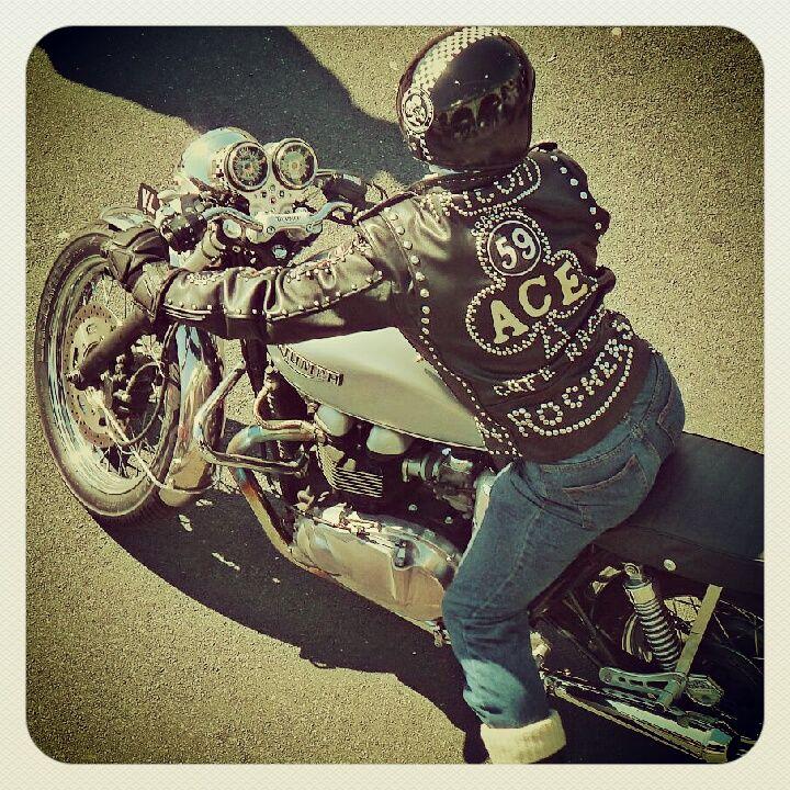 Brighton Ace Cafe Run Vintage Motorcycle Photos Cafe Racer Girl Vintage Cafe Racer